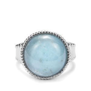 Espirito Santo Aquamarine Ring  in Sterling Silver 9.60ct