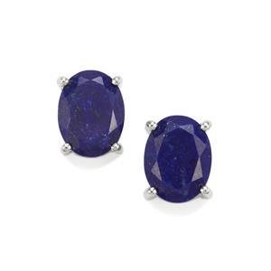 3.60ct Sar-i-Sang Lapis Lazuli Sterling Silver Earrings