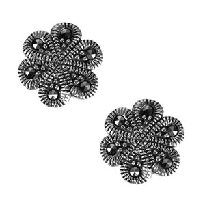Natural Marcasite Jewels of Valais Earrings in Sterling Silver 0.18ct