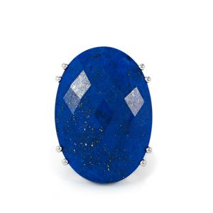 Sar-i-Sang Lapis Lazuli Ring in Sterling Silver 41.87cts