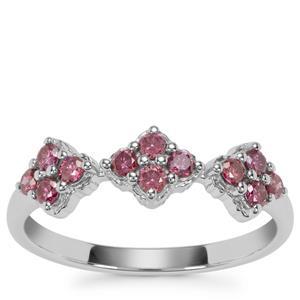 Purple Diamond Ring in Sterling Silver 0.36ct