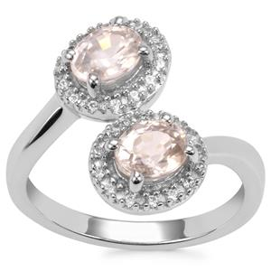 Singida Tanzanian Zircon Ring with White Zircon in Sterling Silver 2.14cts