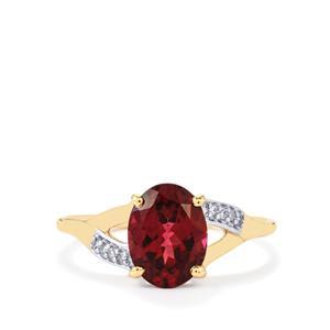 Umbalite & Diamond 10K Gold Ring ATGW 2.42cts