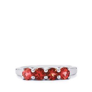 1ct Natural Pink Tourmaline Sterling Silver Ring