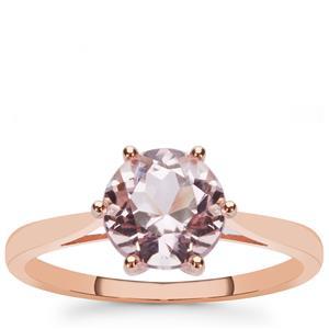 1.65ct Kunzite 9K Rose Gold Ring