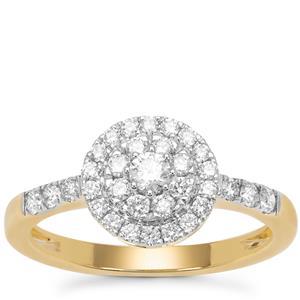 Diamond Ring in 18K Gold 0.55ct