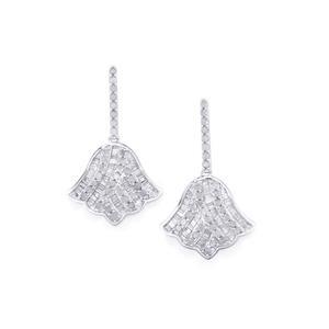 Diamond Earrings in Sterling Silver 1.50ct