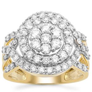Argyle Diamond Ring in 9K Gold 1.05cts