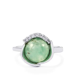 Aquaprase™ Ring with White Zircon in Sterling Silver 3.52cts
