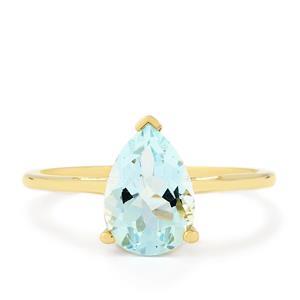 1.50ct Espirito Santo Aquamarine 10K Gold Ring