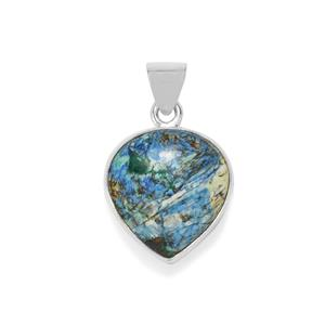 29ct Azurite Diopside Sterling Silver Aryonna Pendant