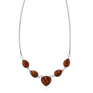 33ct Sonoreña Seam Agate Sterling Silver Aryonna Necklace