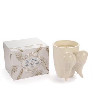 Guardian Angel Collection - Angel Wing Mug Candle with Angelite Gemstone ATGW 36cts