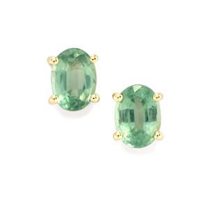 Odisha Kyanite Earrings  in 10k Gold 2cts