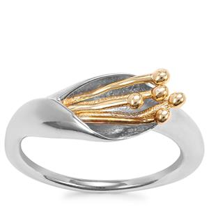Ring in Two Tone Sterling Silver