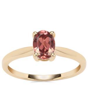 Zanzibar Sunburst Zircon Ring in 9K Gold 1.28cts