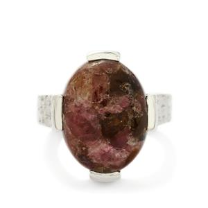 10.00ct Fusion Tourmaline Sterling Silver Ring