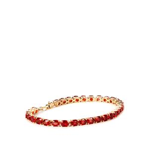 11.17ct Winza Ruby 9K Gold Tomas Rae Bracelet