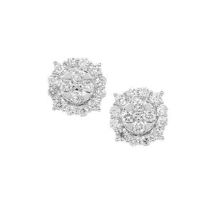 Diamond Earrings in Platinum 950 1ct