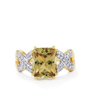 Csarite® Ring with Diamond in 18K Gold 3.33cts