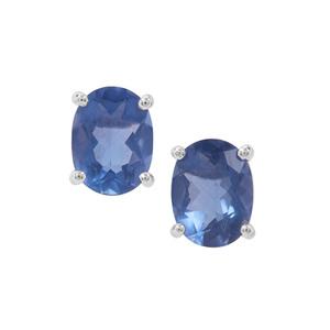 Colour Change Fluorite Earrings  in Sterling Silver 2.95cts