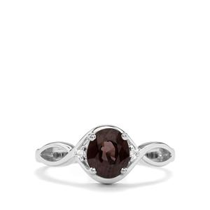 Burmese Multi-Colour Spinel & Diamond Sterling Silver Ring ATGW 1.27cts