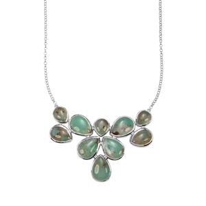 Aquaprase™ Necklace in Sterling Silver 70.52cts