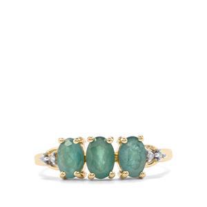 Grandidierite & Diamond 10K Gold Ring ATGW 1.34cts