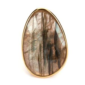 Labradorite Sarah Bennett Ring in 14K Gold Tone Sterling Silver 22cts