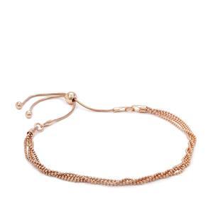 """10"""" Rose Midas Altro Multi Strand Slider Bracelet 3.36g"""