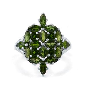 3.44cts Chrome Diopside Sterling Silver Ring