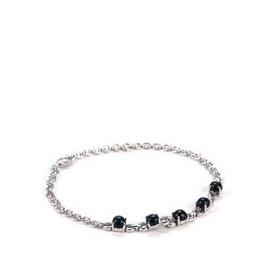 Madagascan Blue Star Sapphire Bracelet in Sterling Silver 4.60cts