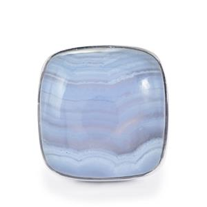 25.20ct Blue Lace Agate Sterling Silver Aryonna Ring