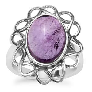 Kenyan Amethyst Ring in Sterling Silver 5.07cts