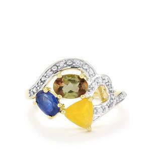 1.99ct Harlequin Gems 9K Gold Ring