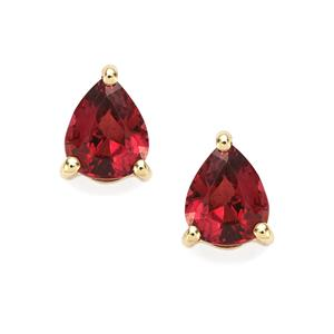 0.67ct Red Spinel 10K Gold Earrings