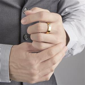 Rhodolite Garnet Ring in Vermeil 0.14ct