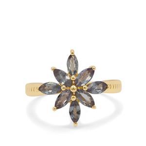 Miova Loko Garnet Ring in 9K Gold 1.35cts
