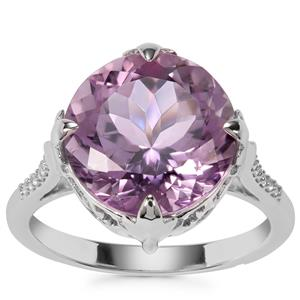 Bahia Amethyst Ring with White Zircon in Sterling Silver 6.63cts