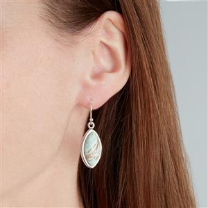 Australian Variscite Earrings in Sterling Silver 14cts