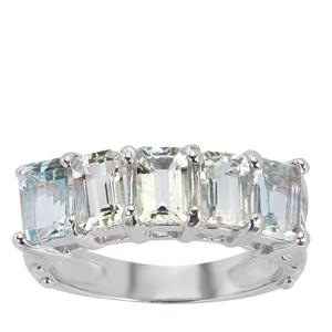 Pedra Azul Aquamarine Ring  in Sterling Silver 2.25cts