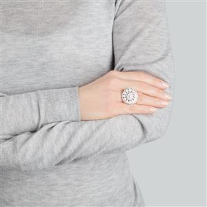 Diamond Ring in Sterling Silver 1.10ct