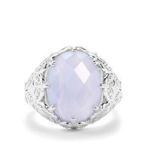 7.71ct Blue Lace Agate Sterling Silver Couture Ring
