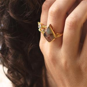 Aquaprase™ Ring in Gold Plated Sterling Silver 5.80cts