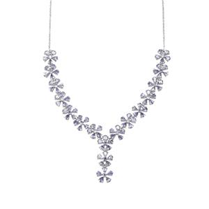 AA Tanzanite Necklace in Sterling Silver 14.08cts