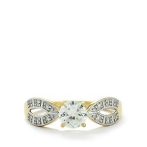 Ratanakiri Zircon Ring  in 10k Gold 1cts