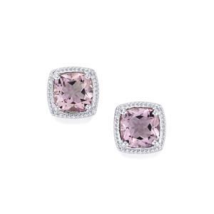10ct Rose De France Amethyst Sterling Silver Earrings