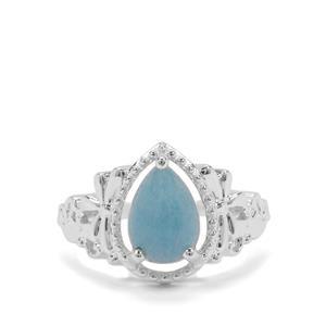 1.93ct Thor Blue Quartz Sterling Silver Ring