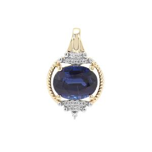 Nilamani Pendant with White Zircon in 9K Gold 2.45cts