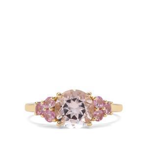 Nigerian Morganite & Sakaraha Pink Sapphire 9K Gold Ring ATGW 2.21cts
